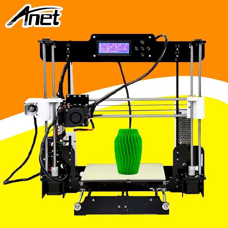 цена на ANET A8 3d printer Reprap Prusa i3 precision 2 Kit DIY Easy Assemble DIY Kit+Hotbed LCD Screen 8GB SD Card Send From Moscow