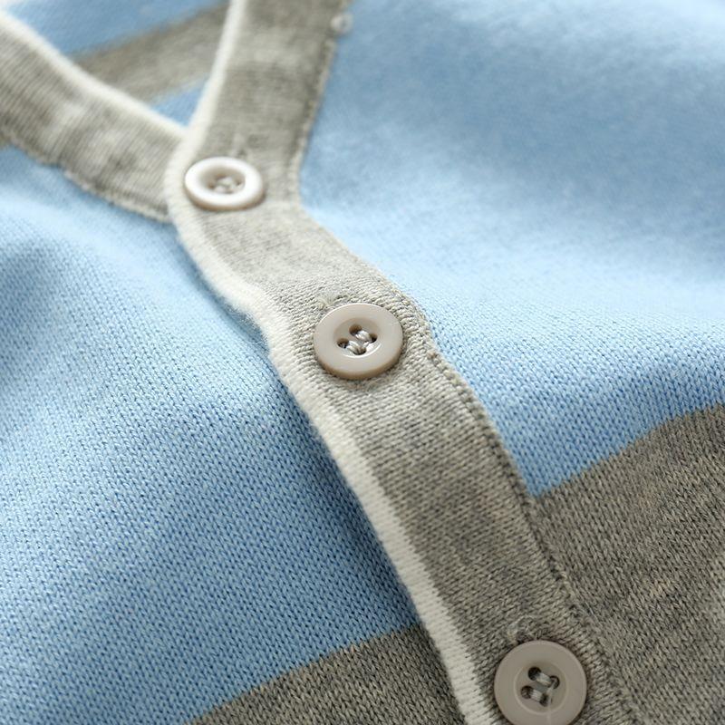 07ab0d2ca5bf Warm Cotton Boys Sweater Striped Long Sleeve Kids Sweater Boy ...