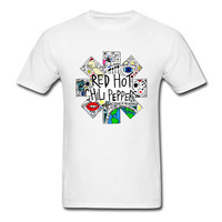 Harajuku Funny Tops Red Hot Chili Peppers T Shirt Vintage Distressed T Shirt 2018 New Summer