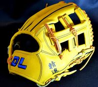 Hot sale!Professional Yellow color 12 cowhide leather baseball gloves softball infielder gloves ,Free shipping!