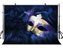 7x5ft Magicalism Backdrop Purple Beautiful Mask Photography Background and Studio Props