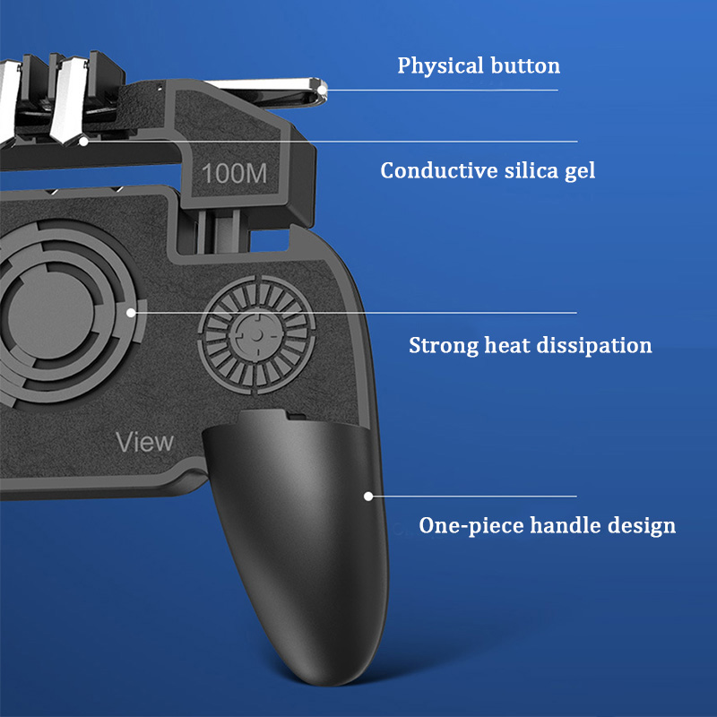 Image 4 - PBUG Mobile L1R1 shooter game controller with cooler fan pubg joystick for phone game holder pubg trigger console oyun konsolu-in Replacement Parts & Accessories from Consumer Electronics