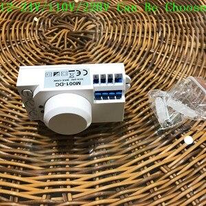 Image 4 - Interruptor de luz con Sensor de microondas, Sensor de movimiento pir, inducción, 12v/110v/220v, 360 grados, novedad