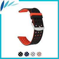 Ремешок для часов из силиконовой резины, 18 мм, 20 мм, 22 мм, 24 мм, для мужчин и женщин, ремешок на запястье, ремешок для часов, браслет черный, серы...