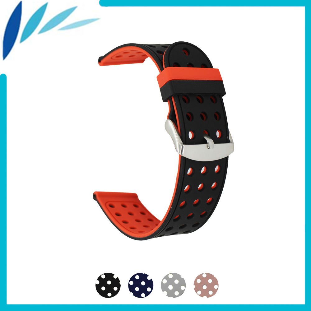 Silicone Rubber Watch Band 18mm 20mm 22mm 24mm for Montblanc Men Women Strap Wrist Loop Belt Bracelet Black Grey Pink Red + Pin eache silicone watch band strap replacement watch band can fit for swatch 17mm 19mm men women