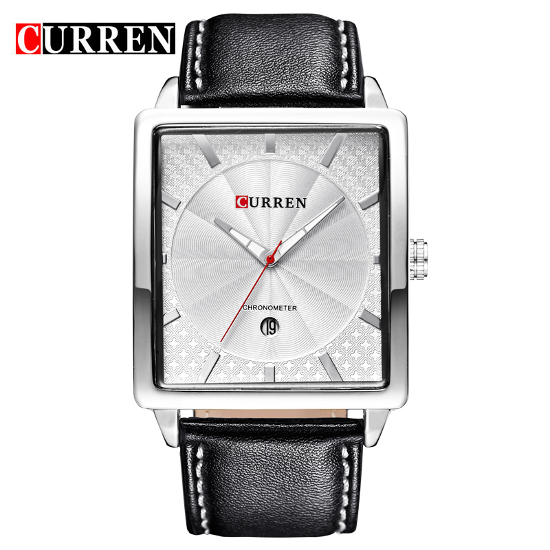 Curren 8117 Luxury Brand Genuine Leather Strap Analog Display Date Men's Quartz Watch Casual Watch Men Watches relogio masculino