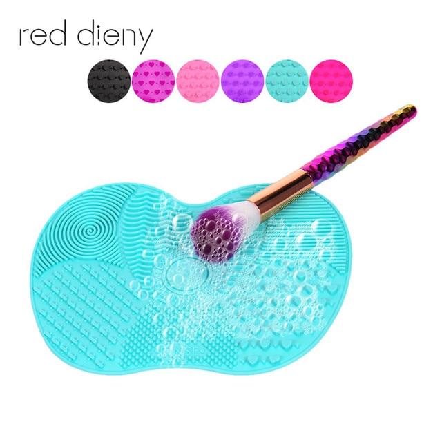Новые силиконовый коврик для очистки кистей Косметика Make Up щетка для мытья Гель для очистки Mat Foundation Губка для удаления макияжа Pad Scrubbe доска
