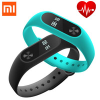 2016 6 Newest Original Xiaomi Mi Band 2 OLED Screen Touch Operation Wristband Heart Rate Fitness