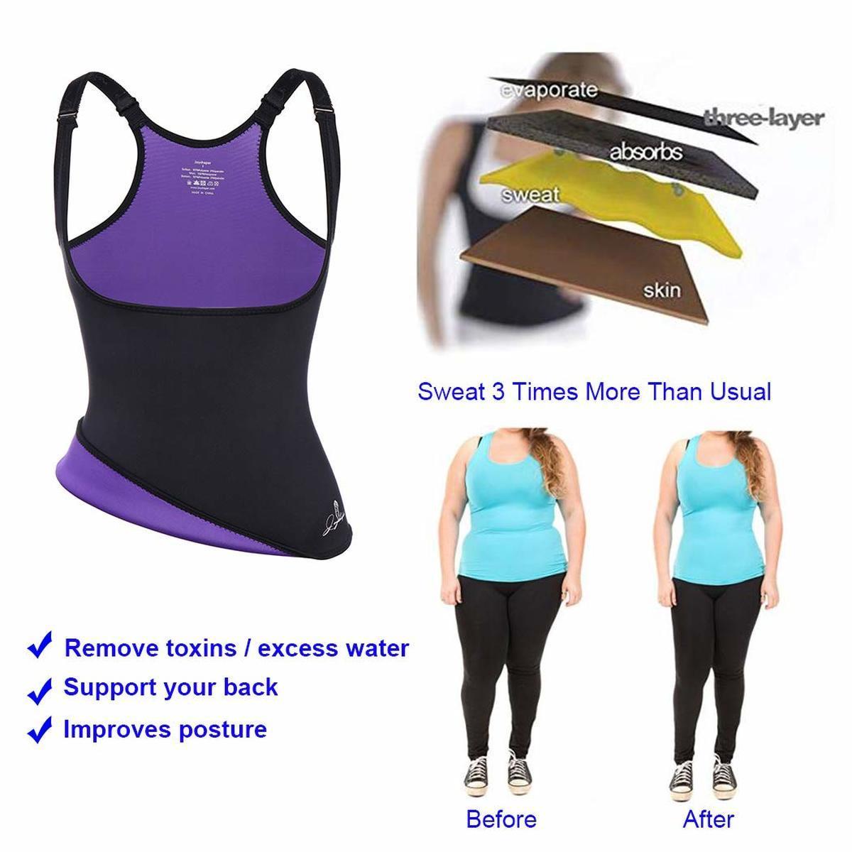Joyshaper Neoprene Waist Trainer Body Shaper for Women Sweat Vest Corset Bust Support Shapewear Hot Slimming Sexy Bodysuit S-3XL