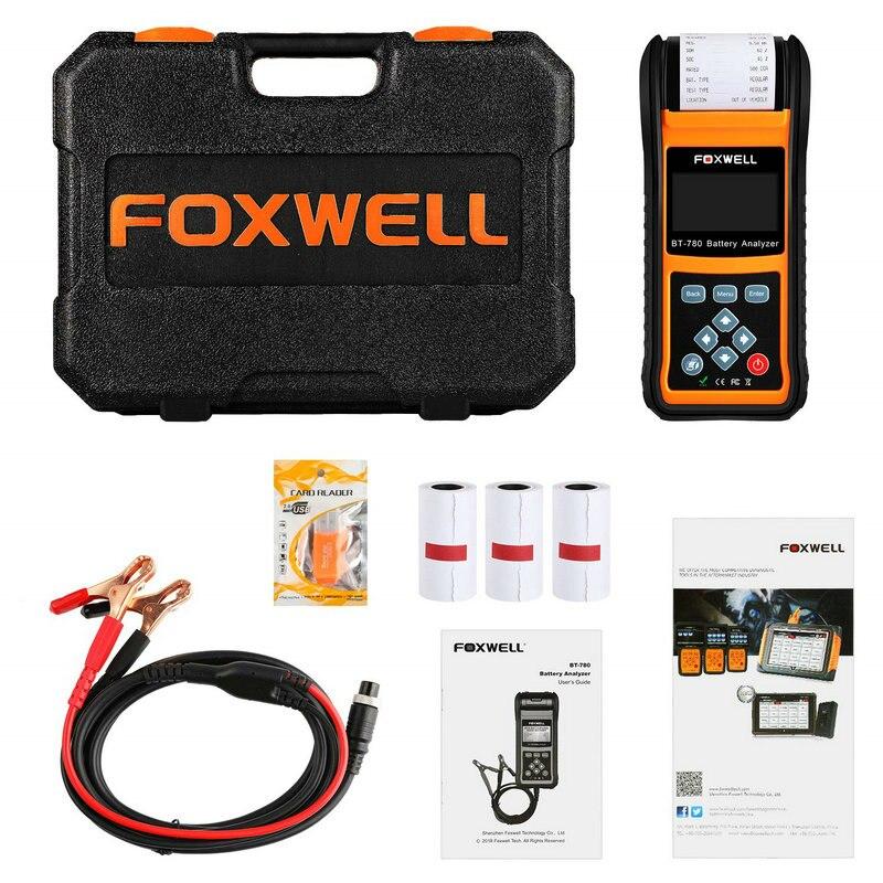 Image 5 - Foxwell BT780 автомобильный 12 В 24 В тестер батареи Встроенный принтер BT 780 авто анализатор батареи AGM гель EFB батареи анализатор-in Тестеры аккумуляторов from Автомобили и мотоциклы on