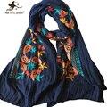 Новая Мода Мори Девушка Цветочные Шарфы и Палантины Японский Этническом Стиле Вышитые Шарфы и Шали для Женщин Хлопка Бандана