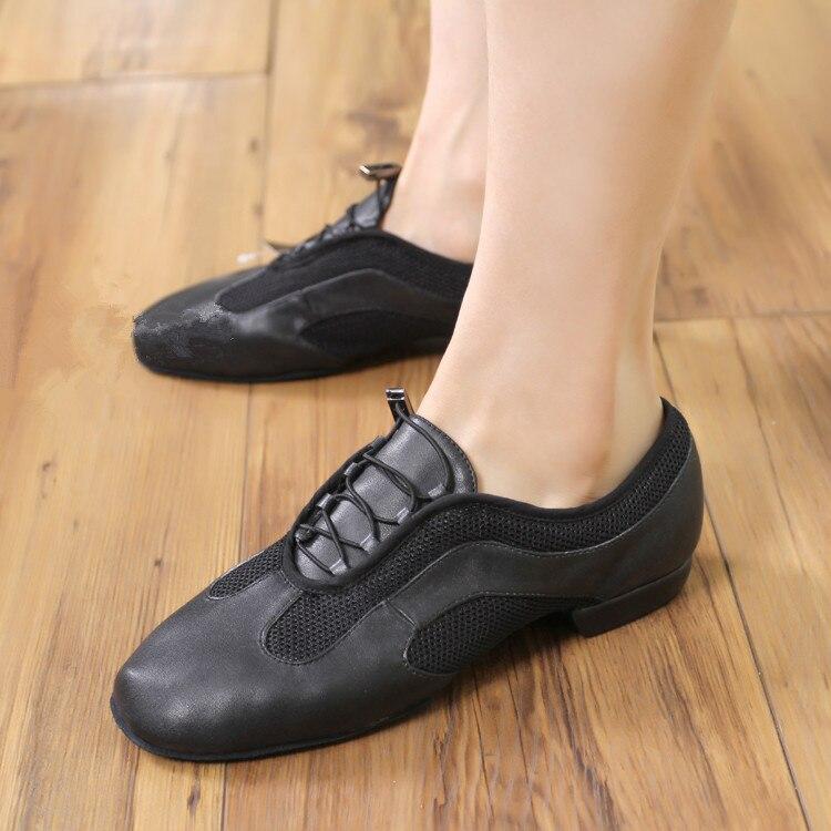 Chaussures De danse Jazz maille noire respirante baskets femme ajustement extérieur Zapatilla De Deporte