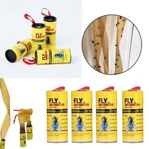 Image 2 - 4 רולס דביק לטוס נייר לחסל זבובי חרקים דבק נייר מלכודת נוח ומעשי ביתי מכירה לוהטת מוצר