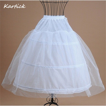 New Cheapest Petticoats 3 Hoops Ball Gown Crinoline Underskirt for Wedding Dress Bridal Gown White In Stock Wedding Accessories 2018 new hot sell 6 hoops big white petticoat super fluffy crinoline slip underskirt for wedding dress bridal gown in stock