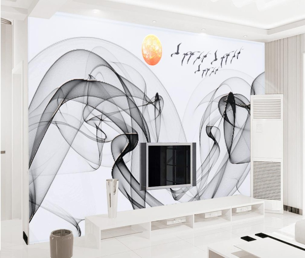 Modern 3D Wallpaper abstract Chinese  ink landscape Vinyl Wallpaper Photo Wall Mural Living room sofa TV Backdrop Wallpaper free shipping chinese ink classical retro wallpaper mural living room tv room wallpaper