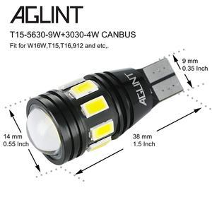 Image 3 - AGLINT 2PCS T15 W16W LED 912 T16 LED Car Bulbs CANBUS No Error Code For Backup Reverse Lamp Xenon White 6000k 12 24V