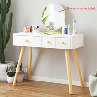 B2507 Bedroom Furniture Modern Dresser Manmade Board Solid Wood Leg Dressing Table Creative Toilet Makeup Table With Drawer