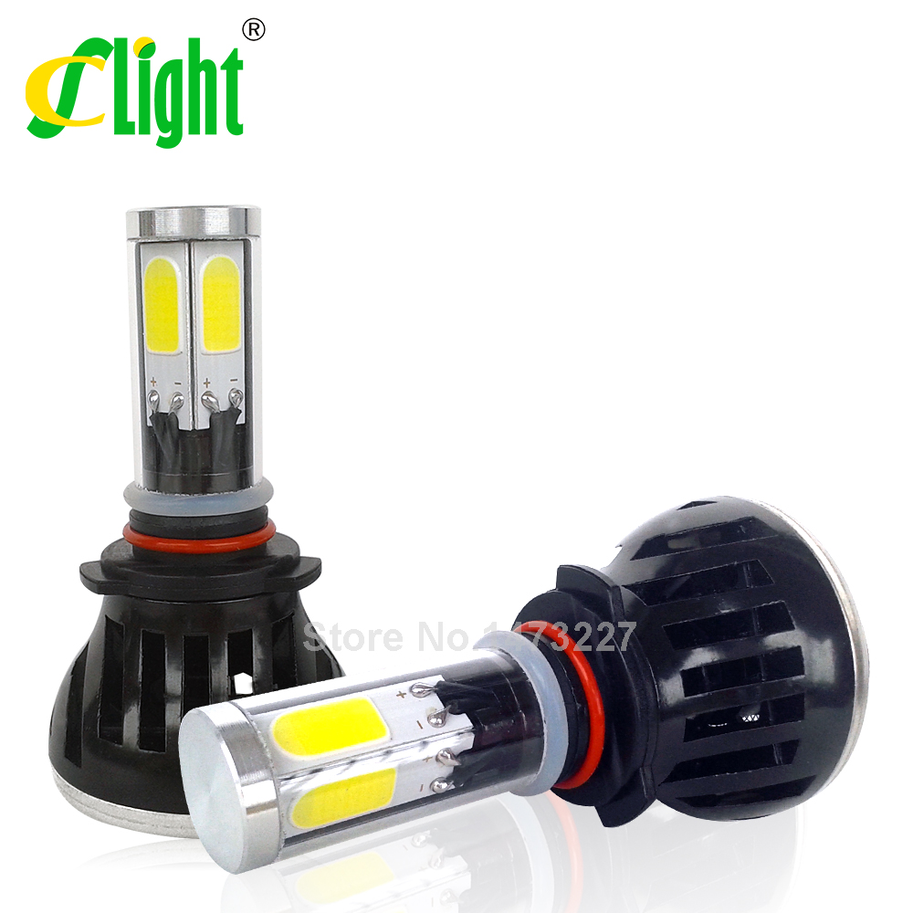 9005 HB3 H10 COB LED Car Headlight Bulbs 40W 8000LM High Power LED Headlights 3000K 6000K