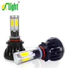 9005 HB3 H10 COB LED Coche Bombillas de Los Faros 40 W 8000LM de alta Potencia LED Faros 3000 K 6000 K 8000 K Llevó La Lámpara 12 V Kit