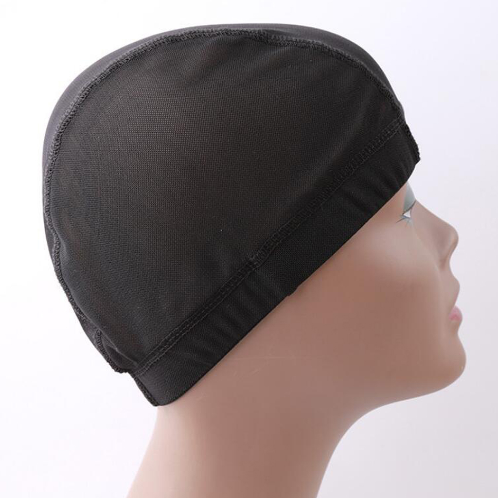 Black Spandex Dome Cap Mesh Hair Net For Making Wigs Snood Stretchy Wig Cap