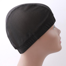 Black Spandex Dome Cap Mesh Hair Net For Making Wigs Snood Stretchy Wig Cap недорого