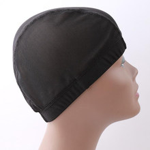 Black Spandex Dome Cap Mesh Hair Net For Making Wigs Snood Stretchy Wig Cap(China)