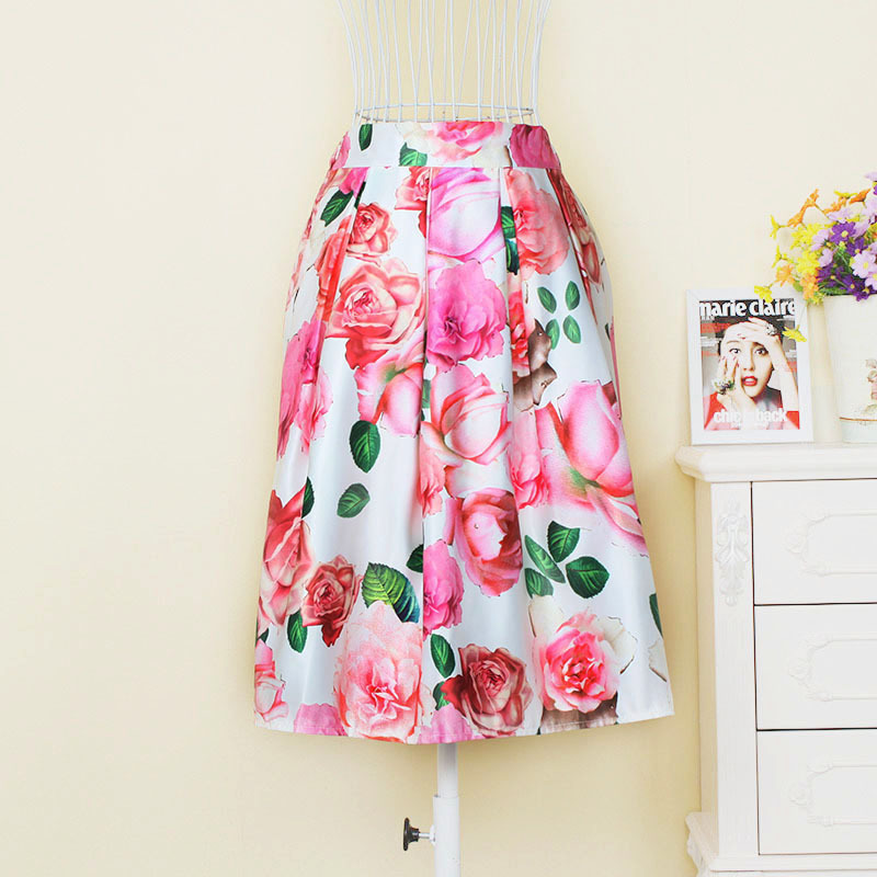 Online Get Cheap Floral Satin Long Skirt -Aliexpress.com | Alibaba ...