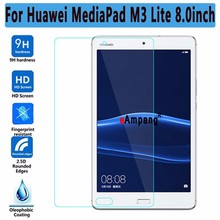 Screen Protector Tempered Glass For Huawei Mediapad M3 Lite 8 8.0 inch ThinTablet PC Screen Protector For Huawei M3 Lite 8 active pen capacitive touch screen for huawei mediapad m3 lite 10 8 10 1 8 0 m3 8 4 stylus pen tablet high precision nib 1 4mm