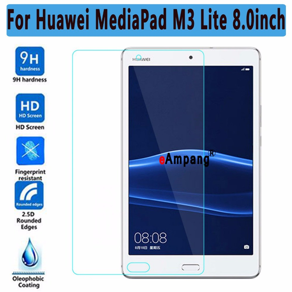 Screen Protector Tempered Glass For Huawei Mediapad M3 Lite 8 8.0 inch ThinTablet PC Screen Protector For Huawei M3 Lite 8 benks tempered glass for xiaomi 5 2 5d radians screen protector