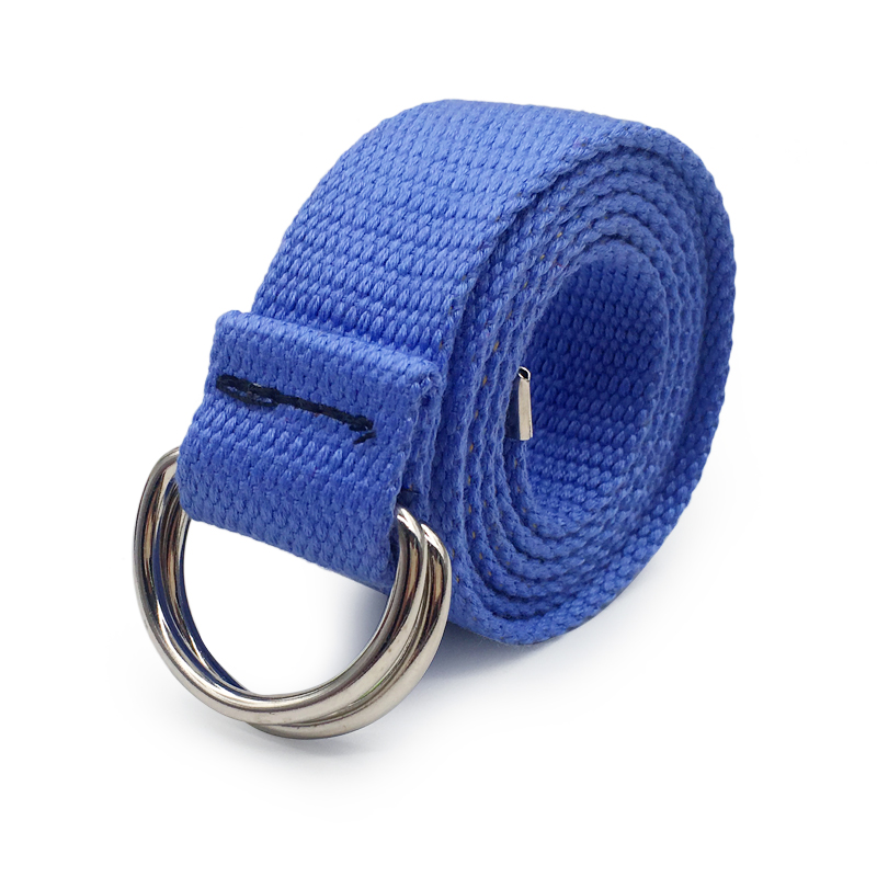 Модный черный холщовый ремень для женщин, повседневные женские поясные ремни с пластиковой пряжкой Harajuku, однотонные длинные ремни ceinture femme - Цвет: style 2 SkyBlue
