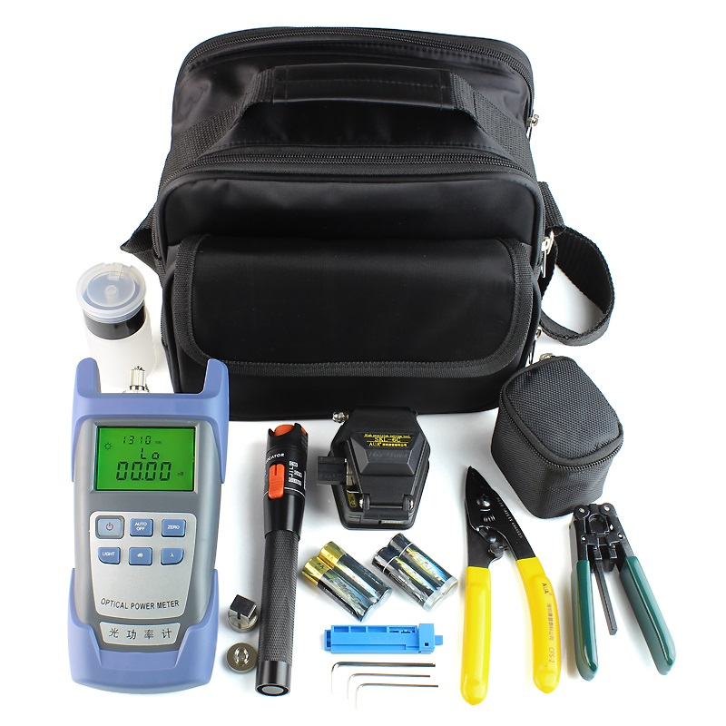 17 In 1 Fiber Optic Splicing Tools with SKL-6C Optical Fiber Cutter Optical Power Meter and 10MW Visual Fault Locator 17 In 1 Fiber Optic Splicing Tools with SKL-6C Optical Fiber Cutter Optical Power Meter and 10MW Visual Fault Locator
