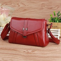 Real Genuine Leather Cowhide Women Messenger Bags Casual Vintage Ladies Cross Body Bags Famous Brand Female