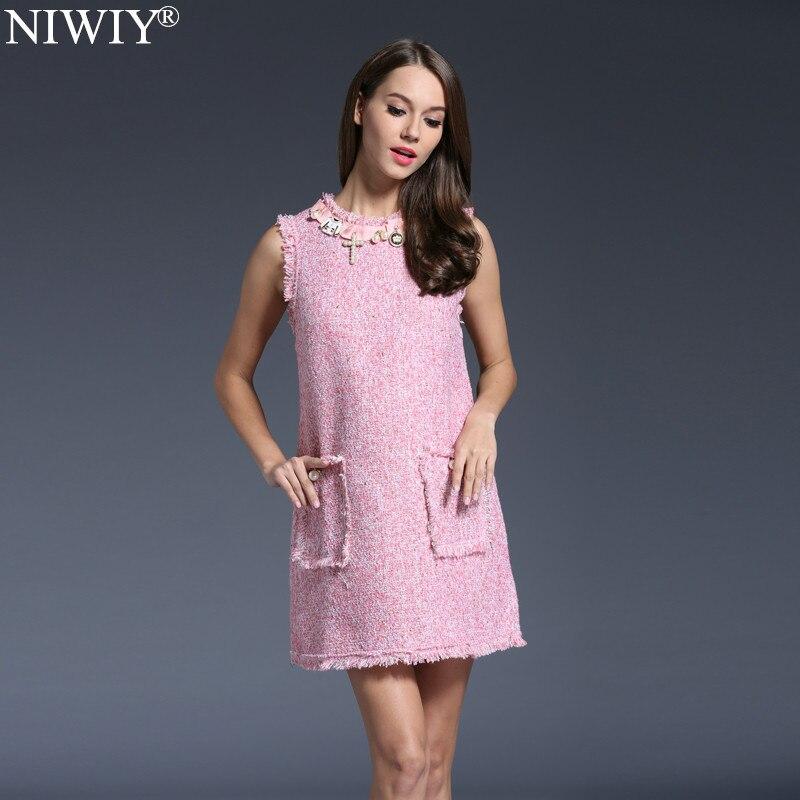 NIWIY ապրանքանիշի զգեստ Sweet Diamonds Bead Pink - Կանացի հագուստ - Լուսանկար 3