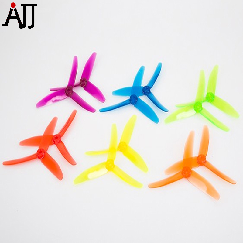 18pairs BeeRotor 5x4'' 5040 3-blades Propeller Clear Rainbow Props Mixed Color for DIY FPV Multi-rotor Small Planes BR50403-MC funny blades style small plastic spinning tops random color 4 pcs