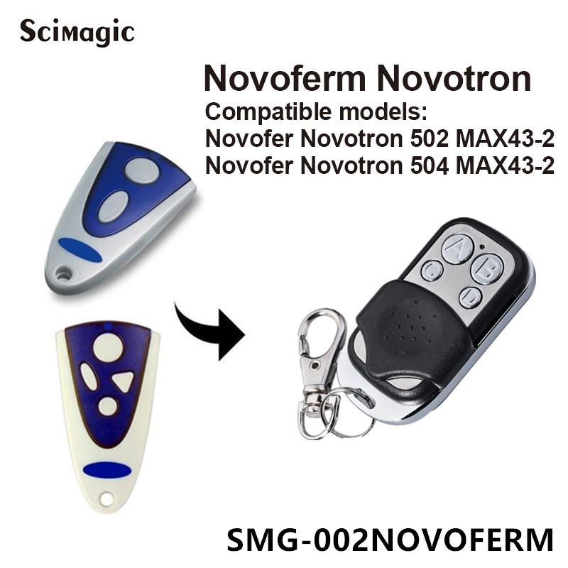 NOVOFERM NOVOTRON 502 MAX43-2, 504 MAX43-4 Replacement Remote 433,92mhz Garage Door Remote Control