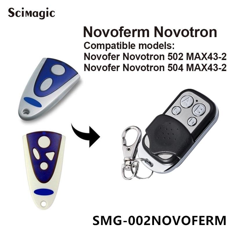NOVOFERM NOVOTRON 502 MAX43-2, 504 MAX43-4 Replacement Remote 433,92mhz Garage Door Remote Control