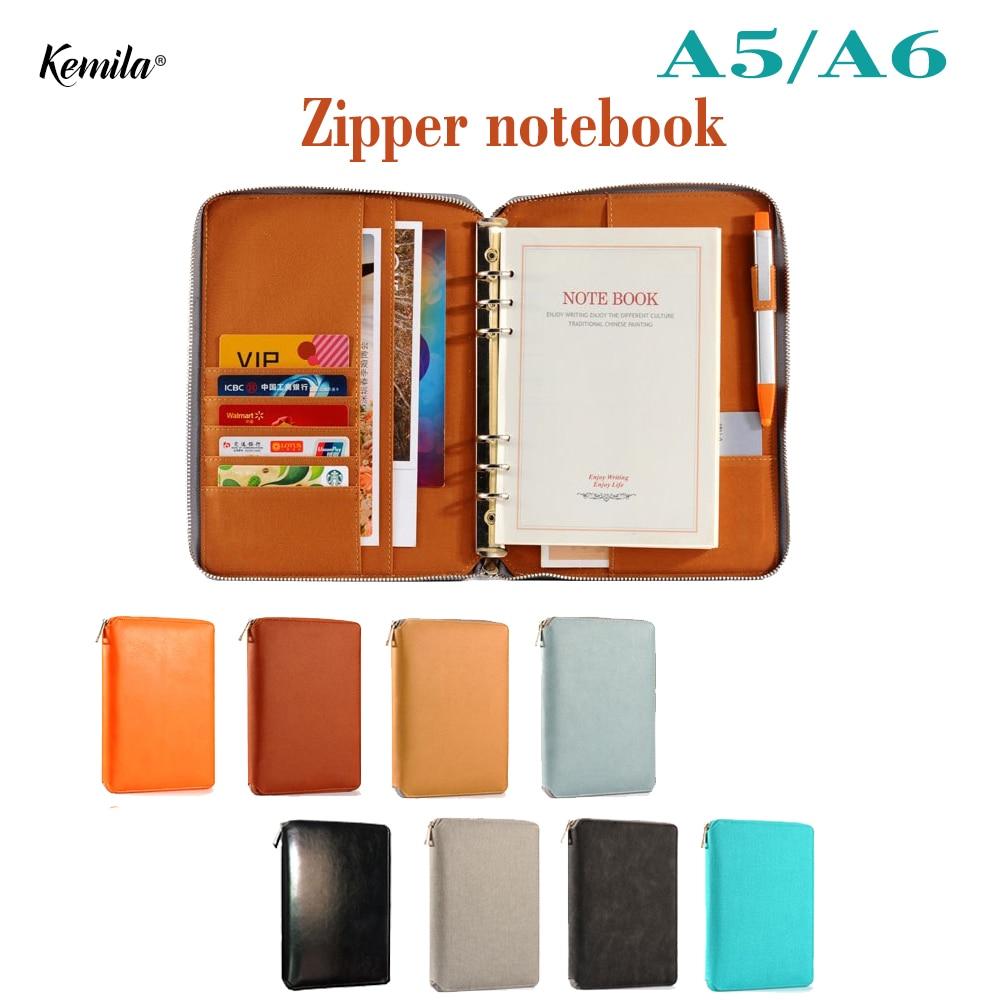 केमिला चमड़ा नोटबुक ए 5 ए 6 - नोटबुक और लेखन पैड
