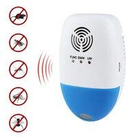Ultra-sônica Anti Pragas eletromagnética Bug Repelente de Ratos Rato Barata Repeller EUA Plug