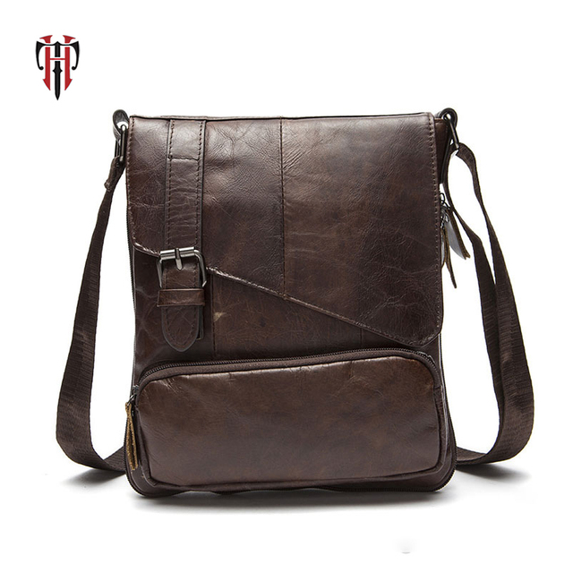 bf09acc94f TIANHOO 2018 new Genuine leather man bag mini messenger bags cowwide leather  crossbody shoulder bags fack designer totes