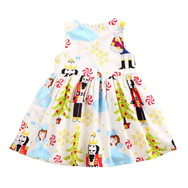 Online Shop 05 Years Old New Baby Girl Birthday Party Dress Summer Cartoons Graffiti Big High Quality Clothes