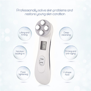 Image 3 - Face Skin EMS Mesotherapy Electroporation RF Radio Frequency Facial LED Photon Skin Care Device Face Lifting Tighten Beauty Tool