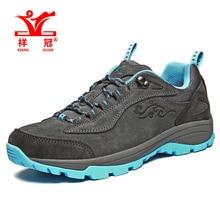 XiangGuan Original outdoor camping men sports hiking shoes Men Women mountain non-slip zapatillas Waterproof trekking boots
