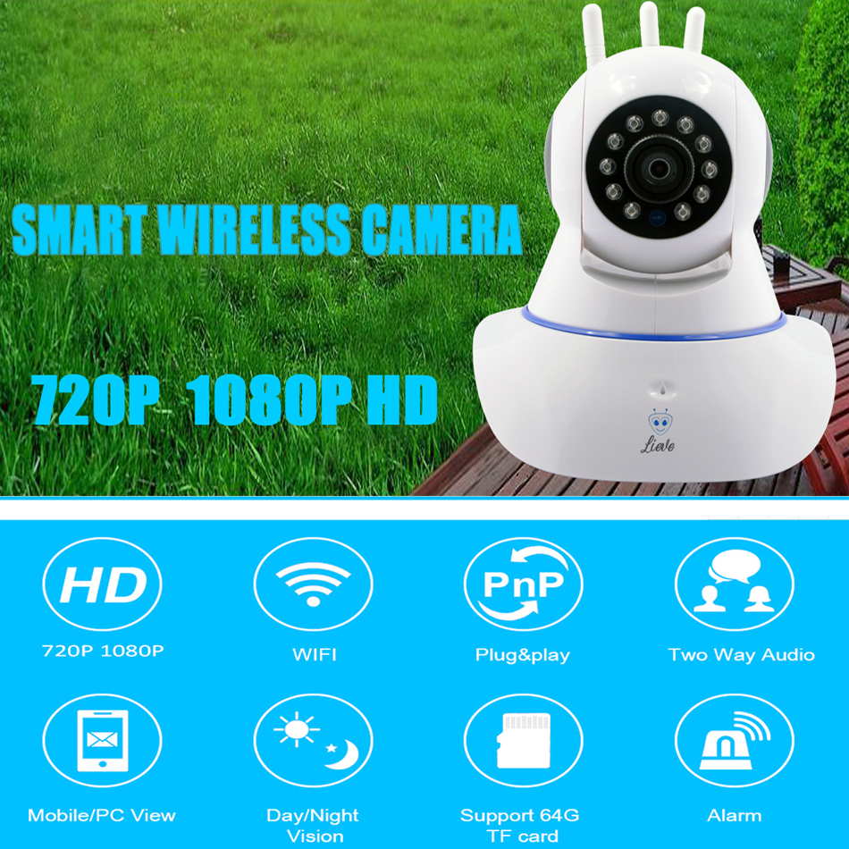 1080P with 32G card Home security Wifi ip camera Smart Night Vision Surveillance camera CCTV Security Camera wi-fi baby monitor1080P with 32G card Home security Wifi ip camera Smart Night Vision Surveillance camera CCTV Security Camera wi-fi baby monitor