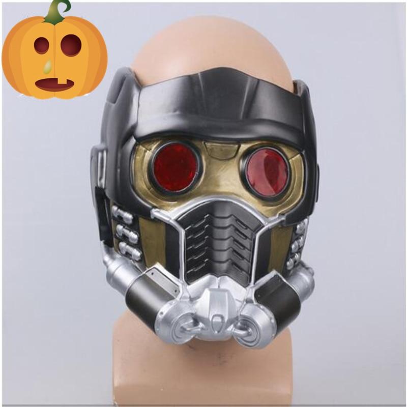 Masque de seigneur étoile de qualité supérieure avec lunettes luisantes gardiens de la galaxie casque Cosplay accessoires de Costume Halloween pleine tête en PVC