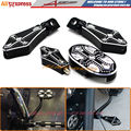Motorcycle CNC Billet Aluminum Brake Pedal Pad Cover & Footrests Foot pegs & Shifter Peg For Harley Sportster XL883 XL1200 48
