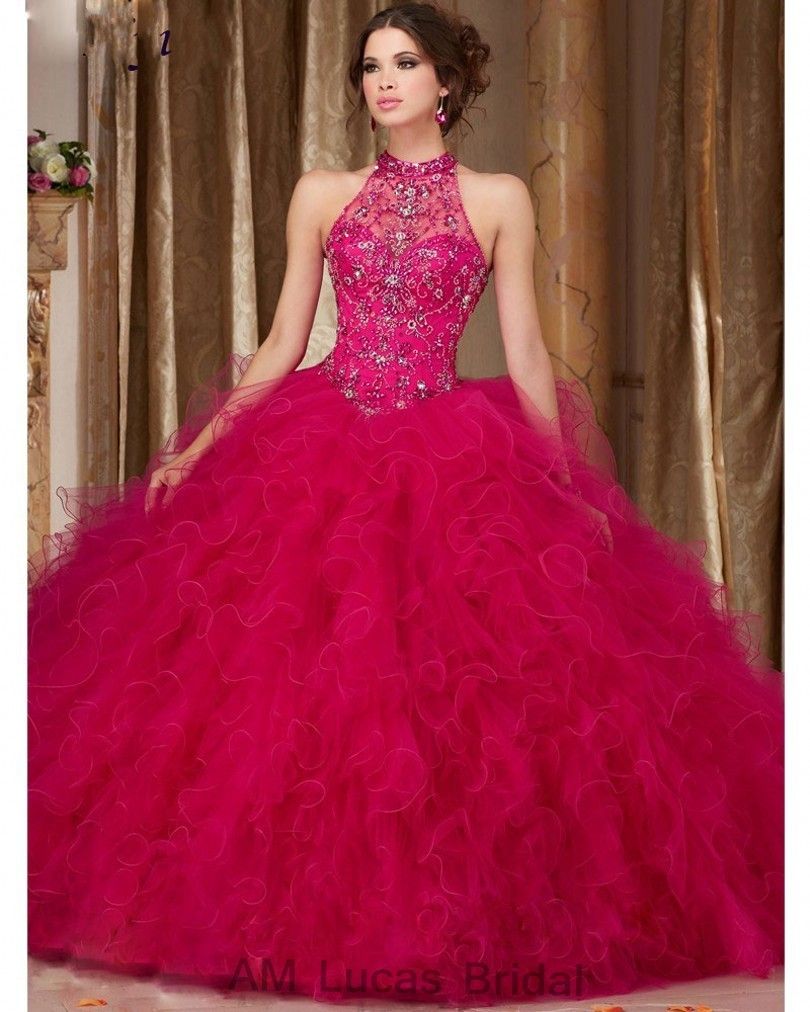 Cheap-Blue-2017-Quinceanera-Dress-Ball-Gown-O-Neck-Beaded-Rhinestones-Long-Sweet-16-Years-Party (2)