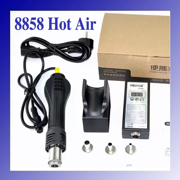 ФОТО High quality 110V/220V Portable LED BGA Rework Solder Station Hot Air Blower Heat Gun YOUYUE 8858