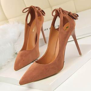 d3b142d4a95 BIGTREE Women Pumps Suede Pointed Toe High Heels Shoes