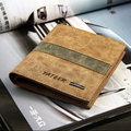 Fashion Men Wallets Casual Design Patchwork Plaid  Quality Soft Matte PU Leather Short Wallet Card Holder Purse Free Shipping