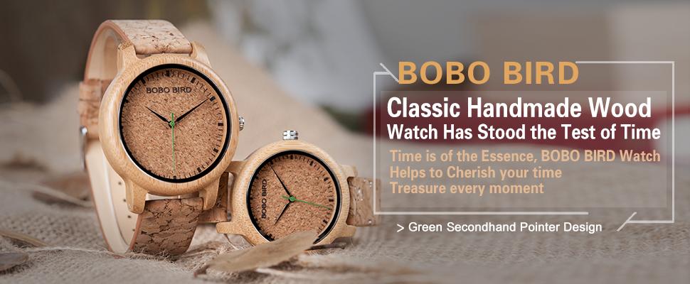 0a4cbdd93f7 BOBO de luxo PÁSSARO Relógios Amantes Relógios De Bambu Cortiça Alça de Quartzo  Relógios De Pulso para Homens e Mulheres relogio feminino DROP SHIPPING